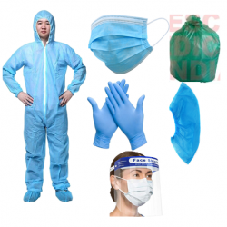Disposable PPE Safety Kit for Full Body Protection, 25packs/carton