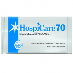 Hospicare Non-woven Wipes with 70% Isopropyl Alcohol solution