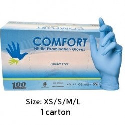 [GroupBuy]Comfort Nitrile Examination Gloves Powder-Free (Per Carton) Small