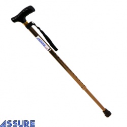 Assure Wooden Handle, Walking Stick with Adjustable Height