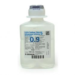 B Braun Sodium Chloride 0.9% IV Inf, Ecoflac, 100ml, 50 bot/box