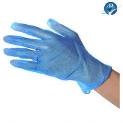 Comfort Plus Vinyl Examination Gloves Powder Free, Blue  (100pcs/box, 10boxes/Carton)
