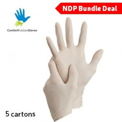 Comfort Latex Examination Gloves Powder-Free (5 Carton)