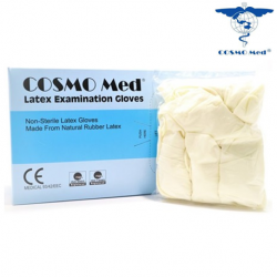Cosmo Med Latex Examination Gloves, Powdered 100pcs/Box