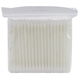Assure Cotton buds (Plastic) in zip bag, 100pcs/pkt,10pkt/bag