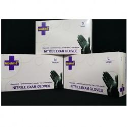 Labskins Nitrile Plus Examination Gloves Powder-Free,Black, Per Carton