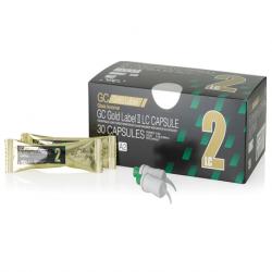 GC Gold Label II LC Light Cure GIC Capsules, 0.10ml/capsule(30/box)
