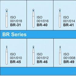 Mani Diamond Bur, Round , BR - Series, 5pcs/pack