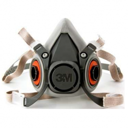 3M Half Facepiece Reusable Respirator, Medium #6200