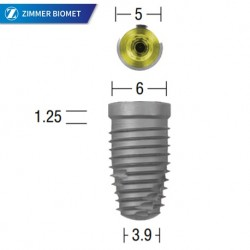 Zimmer Biomet 3i T3 Platform Switched Tapered Implant 6/5mm