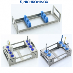 Nichrominox Double Module/ Holder for Implantology Instruments