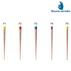 Sure Endo Protaper GP Points Size F1 ~ F5 (mm marked)