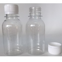 Medicine Bottle Gratuated, Clear 100ml (1000pcs/carton)