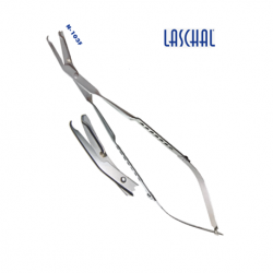 Laschal13 cm up-angled suture scissors.forceps combination