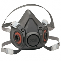 3M Half Facepiece Reusable Respirator, Large  #6300