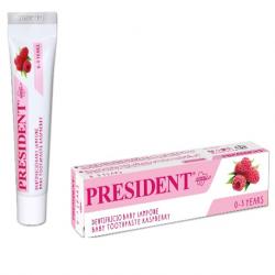 President Baby Toothpaste Rasberry Flavour ( X8 Packs)