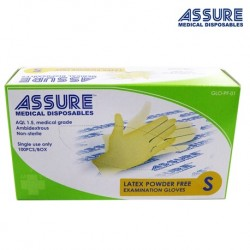 Assure Latex Exam Gloves Powder-Free (100pcs/Box)