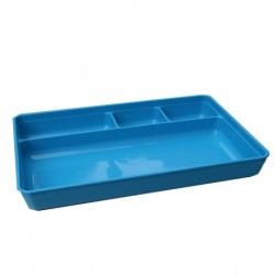 UK made Reusable Holloware 4 Compartment Tray (Blue Colour)