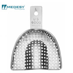 Medesy Impression Trays with Retention Rim (6000/L4-M)