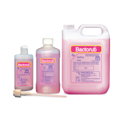 Bactorub Pink Hand Sanitizer for Hospital and Clinical Use