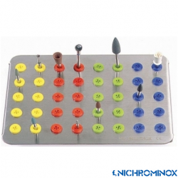 Nichrominox Plug'in 40-holes Bur holder Plate for burs