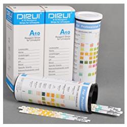Dirui 10 Parameter Strips for Urinalysis (100 strips/bottle)