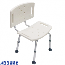 Assure Rehab Aluminium Shower Bench with back rest