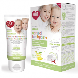 Splat BABY Apple-Banana flavoured toothpaste (w/ finger-tip toothbrush) (40ml)