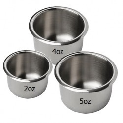 Stainless Steel Gallipot 2oz, 4oz, 5oz