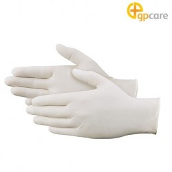 GP Care Latex Examination Gloves Powdered, 100/Box