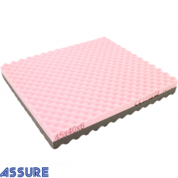 Safe Pink/Grey Memory foam cushion with cover (45X40X6CM)