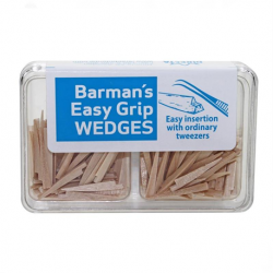 Barman wooden wedges Easy Grip (200pcs/box)
