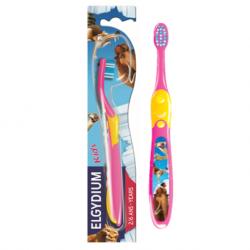 Elgydium Ice Age Kids ( 2 - 6 yrs) Toothbrush ( X8 Packs )