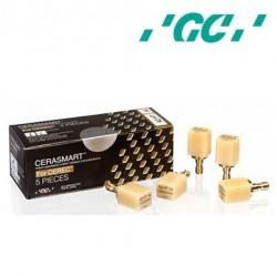 GC CERASMART for CEREC, Refill of 5 blocks High Translucency (HT)