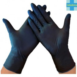 Labskins Nitrile Plus Examination Gloves Powder-Free,Black, Per Box