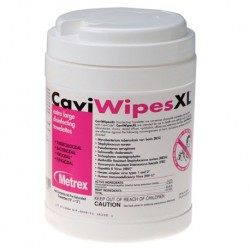 CaviWipes, XL,Disinfectant Wipes, 9'' x 12''(Canister of 65 sheets)
