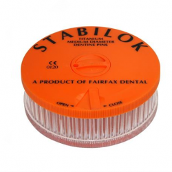 Stabilok Pin Jumbo (100pc/box) Orange, Titanium. Size .027'