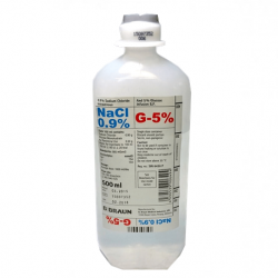 B Braun Sodium Chloride 0.9%, Glucose 5% intravenous infusion injection, 500ml