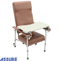 Assure Geriatric chair with adjustable height and 2 rear wheel,Rosewood