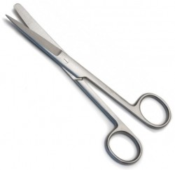 Standard Surgical Scissor, Curved, Sharp/Blunt Tip