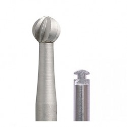 Busch Carbide Bur RA Long Shank, Round (2pcs/pack)