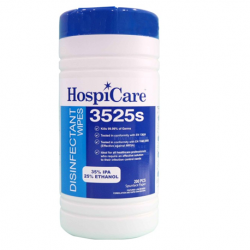 Hospicare 3525S Disinfectant Wipes, 20cm x 27cm, 200pc/can