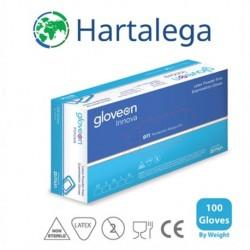 Hartalega/GP Care Nitrile Gloves, White 100pcs/Box Size Large