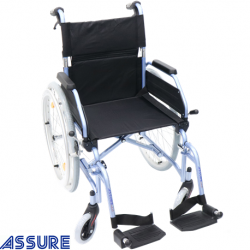 Assure Aluminium wheelchair with detachable armrest,18''