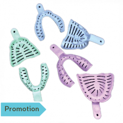 Edentulous Impression Trays Perforated (12 pcs/bag)