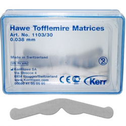 Hawe Tofflemire Matrices 0.038mm in thickness 30/box # 1103/30
