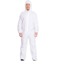 Disposable Protective Micorporus Coverall, 55gsm, White in color, Per Piece