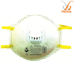 Henox N95 Cone Respirator With Exhalation Valve, #SE-109016V, 10pieces/Box
