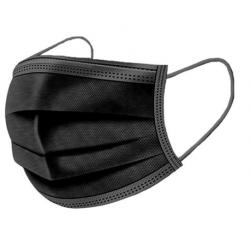 3-ply Surgical Face Mask, Black,50pcs/Box