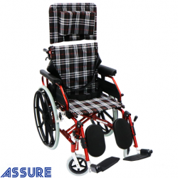 Assure Reclining Aluminium wheelchair,anti-tipper,anti-torsion bar,18''